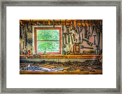 Window Over The Workbench Framed Print