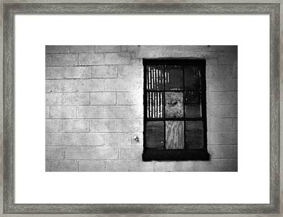 Window Pains Framed Print