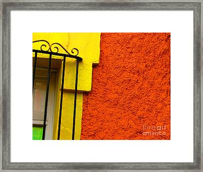 Window Plus Green By Michael Fitzpatrick Framed Print by Mexicolors Art Photography