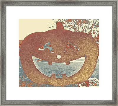Window Pumpkin #1 Framed Print