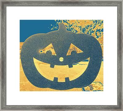 Window Pumpkin #2 Framed Print