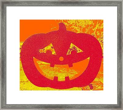 Window Pumpkin #4 Framed Print