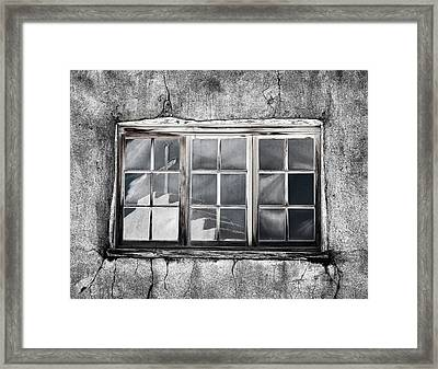 Window Reflection New Mexico Framed Print