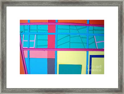 Window Reflections Framed Print