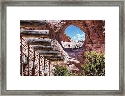Window Rock - Arizona - Navajo Nation Capital Framed Print by Gregory Ballos