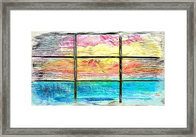 Window Scene Abstract Framed Print