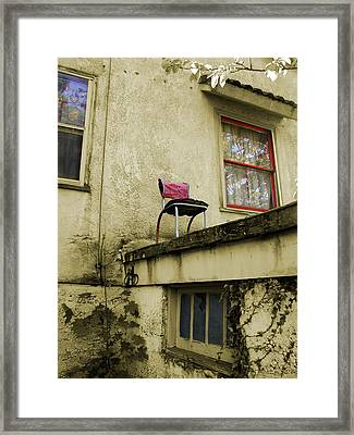 Framed Print featuring the photograph Window Seat by Arthur Fix