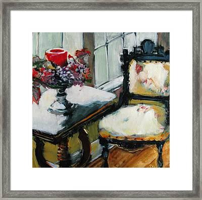 Window Seat Framed Print by Michelle Winnie