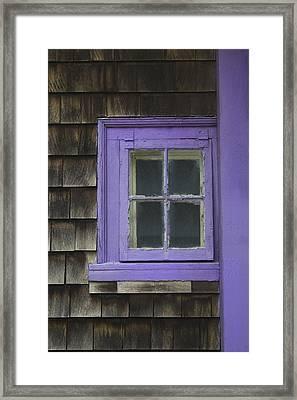 Purple Window - Window Series 04 Framed Print