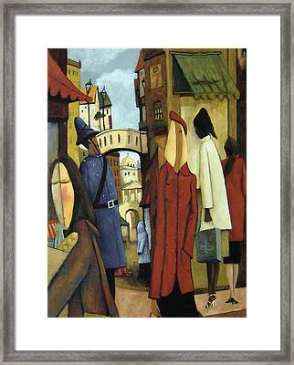 Window Shopping Framed Print by Glenn Quist