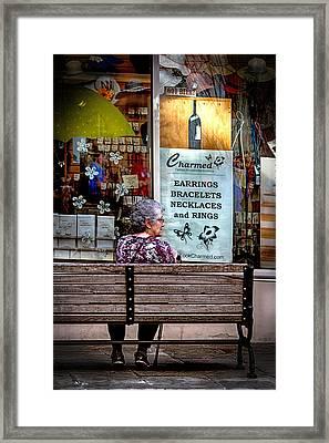 Window Shopping Framed Print by John Haldane