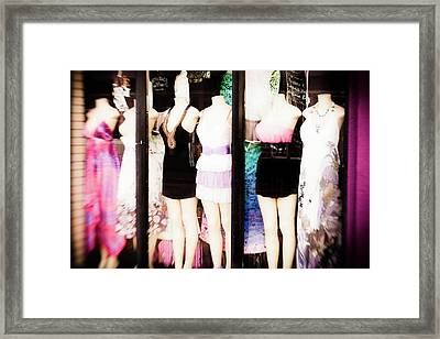 Window Shopping Framed Print by Lisa McStamp