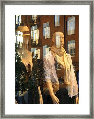 Window Shopping Framed Print by Michael Canning