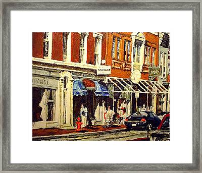 Window Shopping Framed Print by Thomas Akers