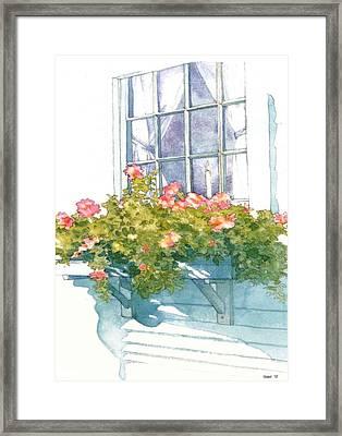 Window Sill Framed Print by Sloane FinneganAllen