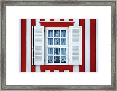 Window Stripes Framed Print by Carlos Caetano