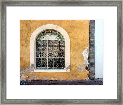 Window - Teatro Carmen - Tucson Framed Print