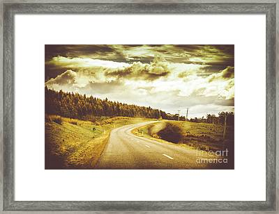 Window To A Rural Road Framed Print