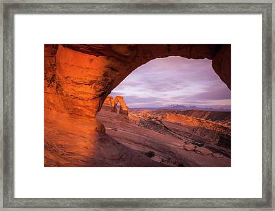 Framed Print featuring the photograph Window To Arch by Wesley Aston
