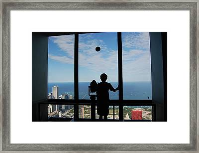 Window To Discovery Framed Print