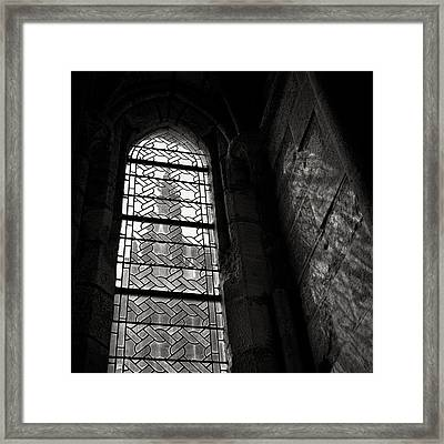 Window To Mont St Michel Framed Print by Dave Bowman