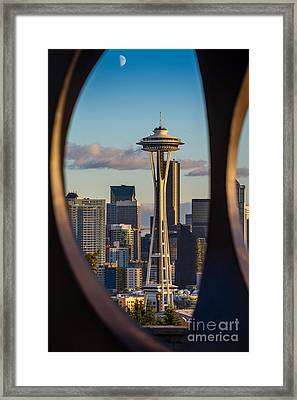 Window To Seattle Framed Print by Jamie Pham