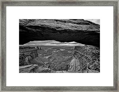 Window To The Canyon Below Framed Print by Rick Berk
