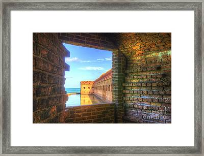 Window To The Fort Framed Print by Jason Barr