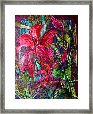 Window To The Jungle Framed Print