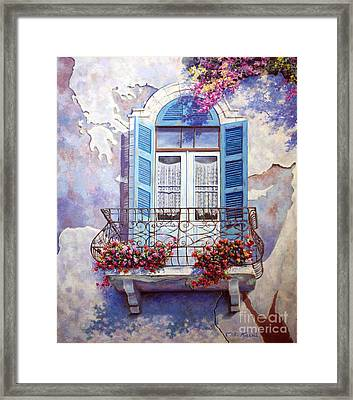 Window To The Mediterranean Framed Print