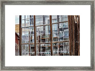 Window To The Past Framed Print by AJ Schibig