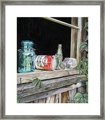 Window To The Past Framed Print