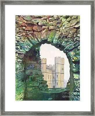 Framed Print featuring the painting Window To The Past by LeAnne Sowa
