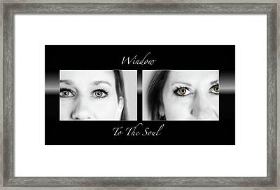 Window To The Soul Framed Print by Steven Michael