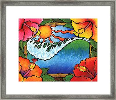 Window To The Tropics Framed Print