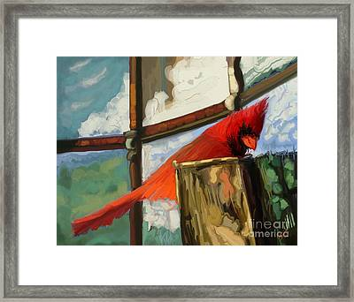Window To The World Framed Print by Carrie Joy Byrnes