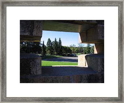 Framed Print featuring the photograph Window To The World by Maciek Froncisz