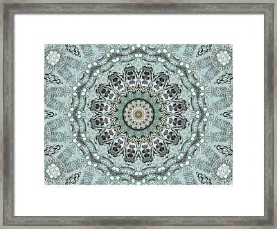 Window To The World Mandala Framed Print by Janusian Gallery