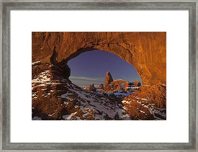 Window To Turret Framed Print
