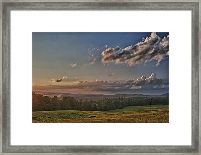 Window To Vermont In Color Framed Print by Nathan Larson
