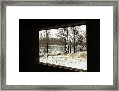 Window To Winter Framed Print by Karol Livote