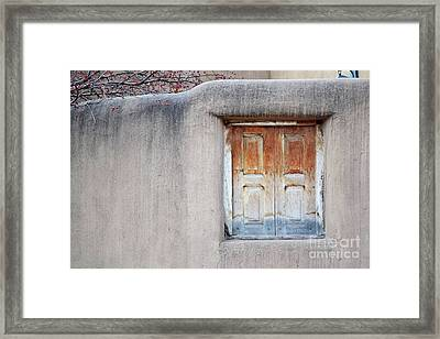 Framed Print featuring the photograph Window Tree Berries by Andrea Hazel Ihlefeld