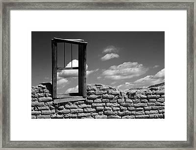 Window View Framed Print