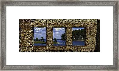 Window View Framed Print by Chuck De La Rosa