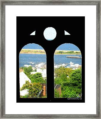 Window View Framed Print by Colleen Kammerer