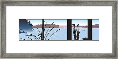 Window View Framed Print by Marian Federspiel
