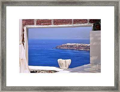 Window View To The Mediterranean Framed Print