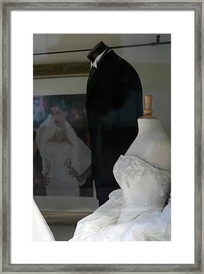 Window Wedding Attire Framed Print