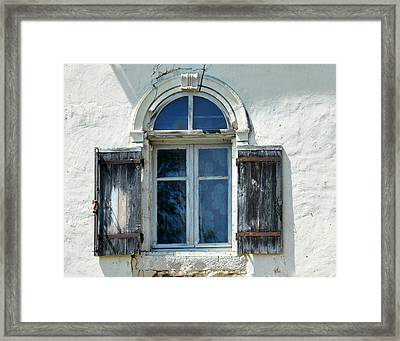 Window With Shutters Framed Print by Marion McCristall