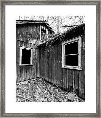 Framed Print featuring the photograph Windows 3 by Alan Raasch